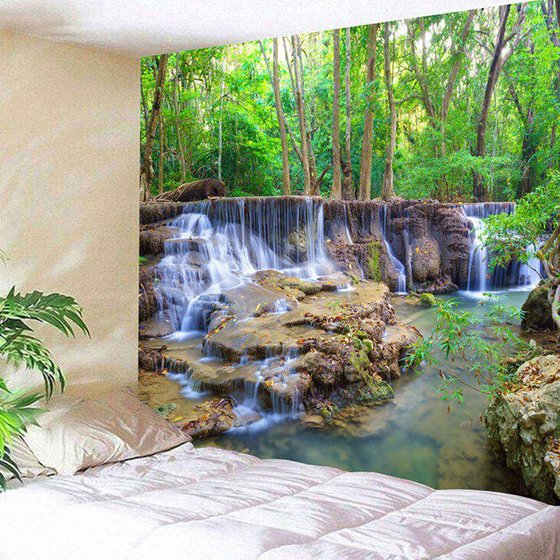 Wall Hanging Forest Stream Landscape Tapestry forest stream sunlight waterproof wall hanging tapestry
