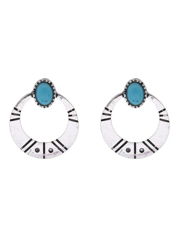 Faux Turquoise Tribal Moon Earrings lore dnlt 600 black