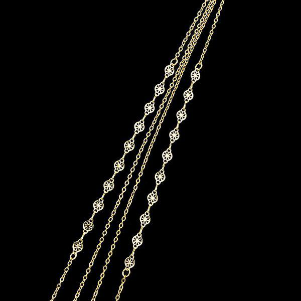 Metal Fringed Layered Body Chain - GOLDEN