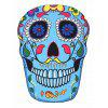 Floral Skull Shape Beach Throw - LIGHT BLUE ONE SIZE