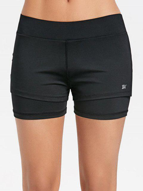 Superposition Slit Gym Shorts - Noir M