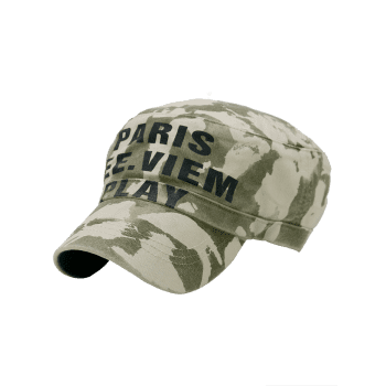 PARIS SEE VIEW PLAY Pattern Embellished Army Hat - ARMY GREEN