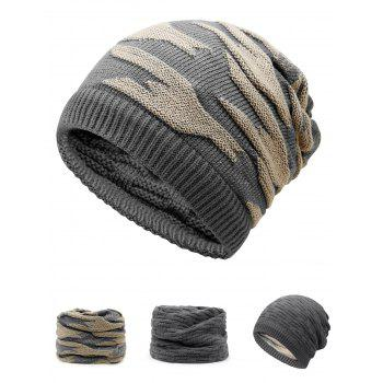 Multifunctional Ponytail Thicken Knitted Beanie Hat - GRAY GRAY