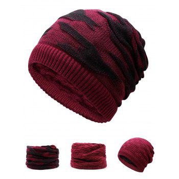 Multifunctional Ponytail Thicken Knitted Beanie Hat - WINE RED WINE RED