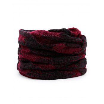 Multifunctional Ponytail Thicken Knitted Beanie Hat - WINE RED