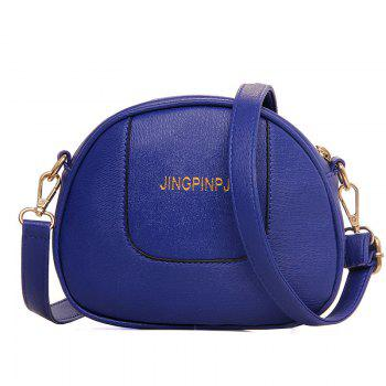 Metal 6 Pieces Letter Shoulder Bag Set -  BLUE