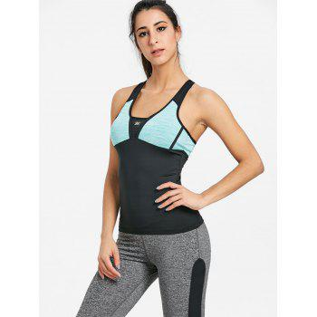 Color Block Racerback Workout Tank Top - MINT MINT