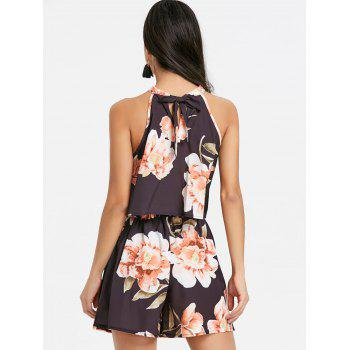 Floral Shorts Two Piece Set - BLACK M