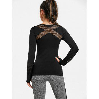 Sports Skinny Breathable Long Sleeve T-shirt - BLACK L