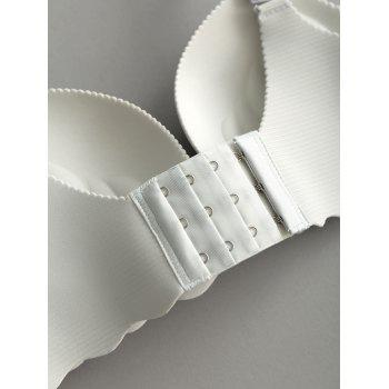 Bowknot Detail Scallop Trim Seamless Bra - QUARRY QUARRY