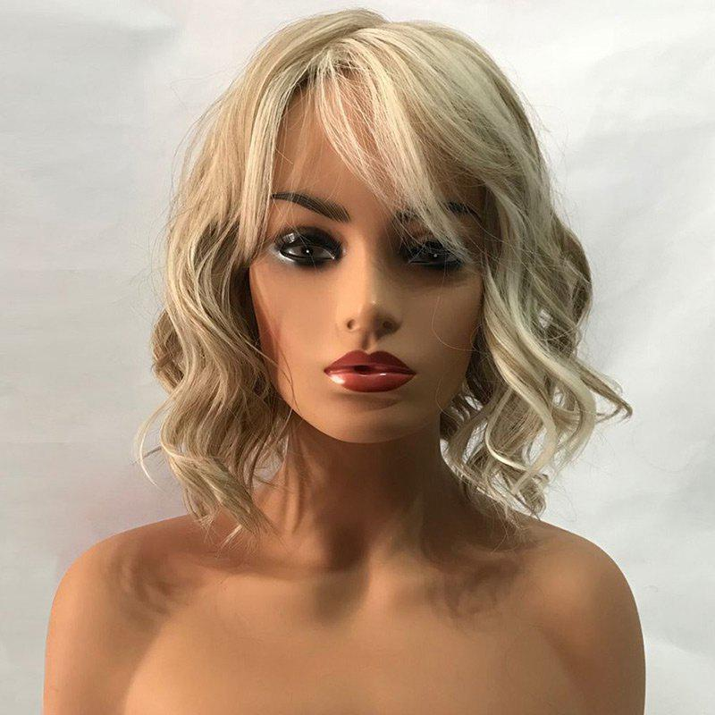 Short Side Bang Wavy Colormix Capless Synthetic Wig