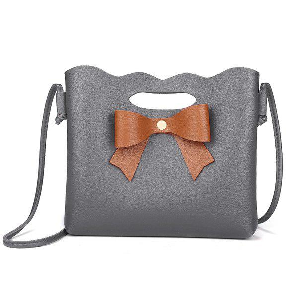 Hollow Out Bowknot Crossbody Bag