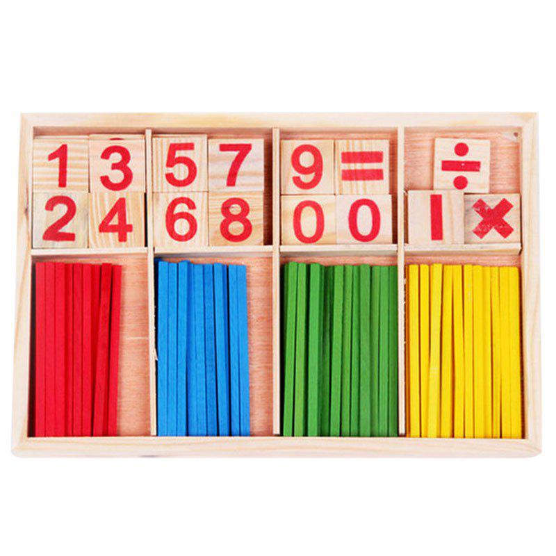 Teaching Digital Number Counting Sticks Puzzle Wooden Toy - COLORFUL