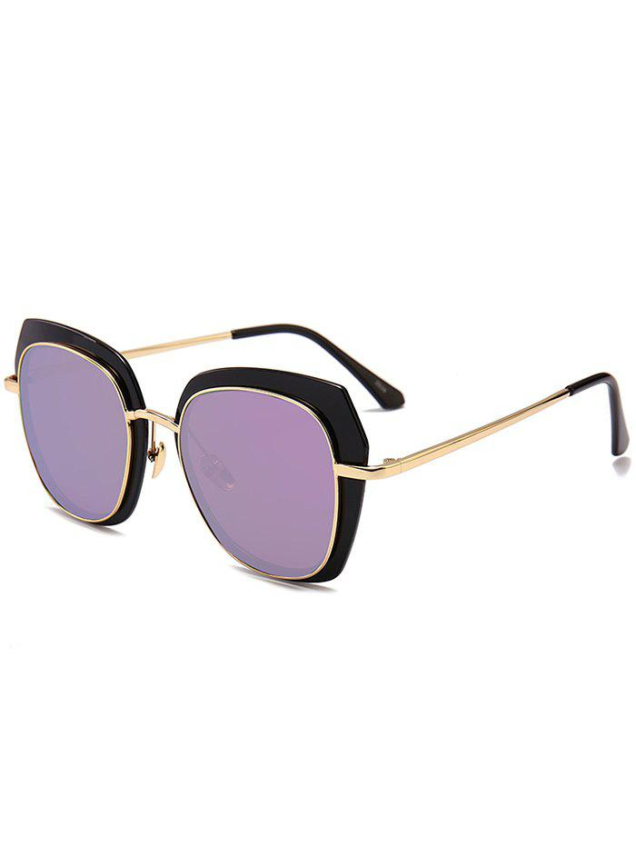 Anti UV Metal Full Frame Cat Eye Sunglasses - PURPLE