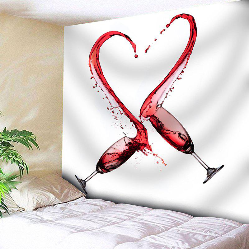 Valentine's Day Wine Glass Heart Printed Wall Art Tapestry valentine s day wine glass heart printed wall art tapestry