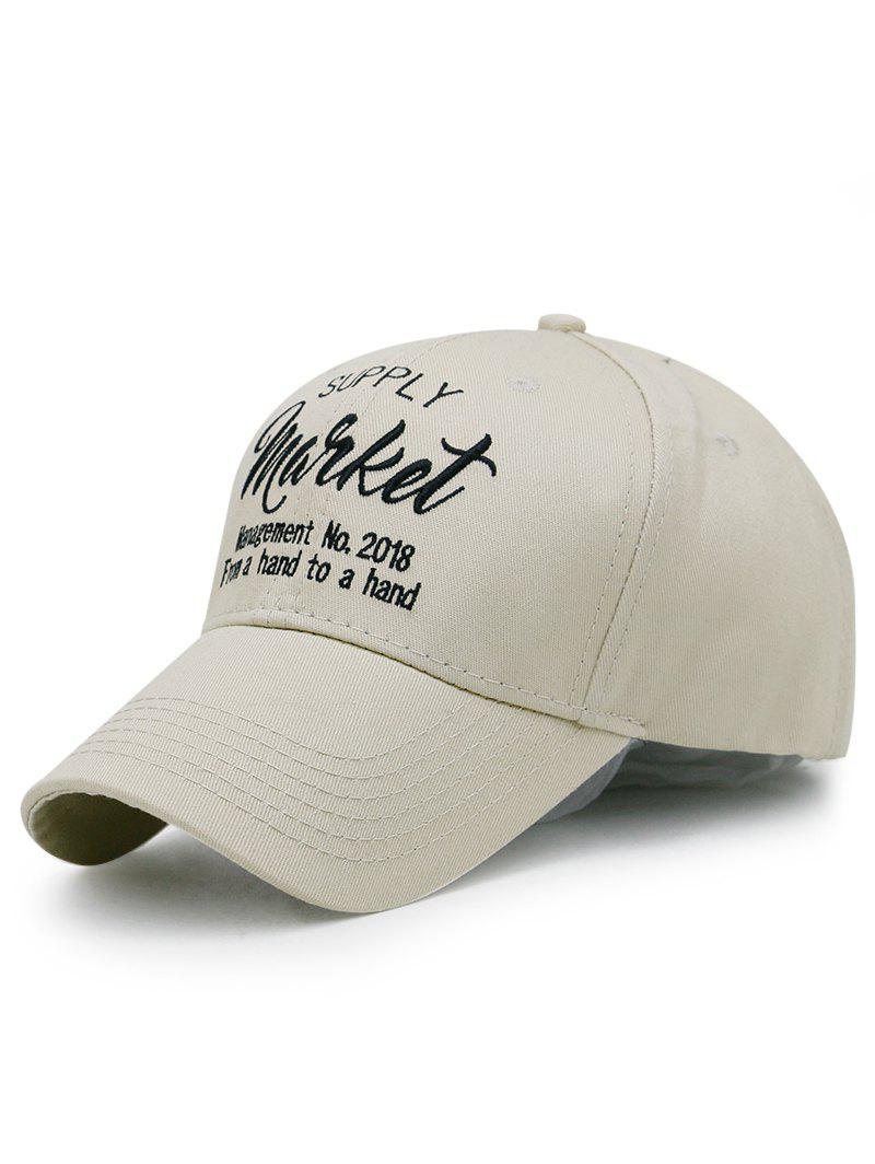 Outdoor Letter Sentences Embellished Baseball Cap - KHAKI