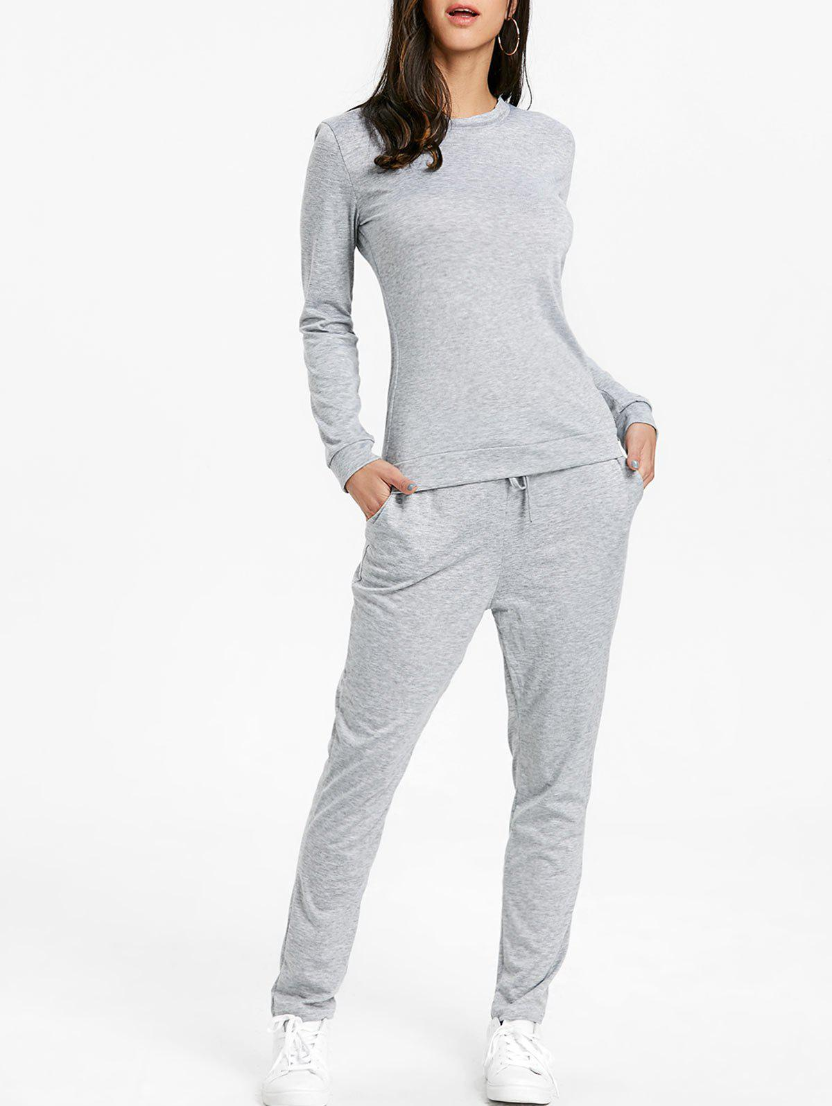 High Waisted Drawstring Sweat Suits drawstring hoodie with pants sweat suits