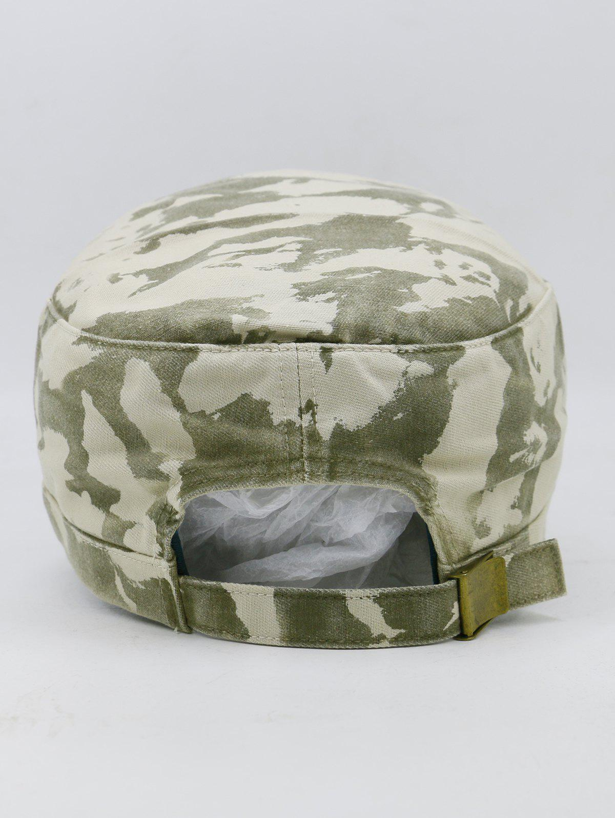 PARIS SEE VIEW PLAY Pattern Embellished Military Hat - ARMY GREEN