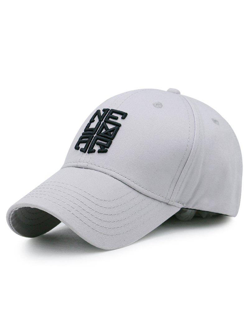 Outdoor Letter Pattern Embellished Baseball Cap - GRAY