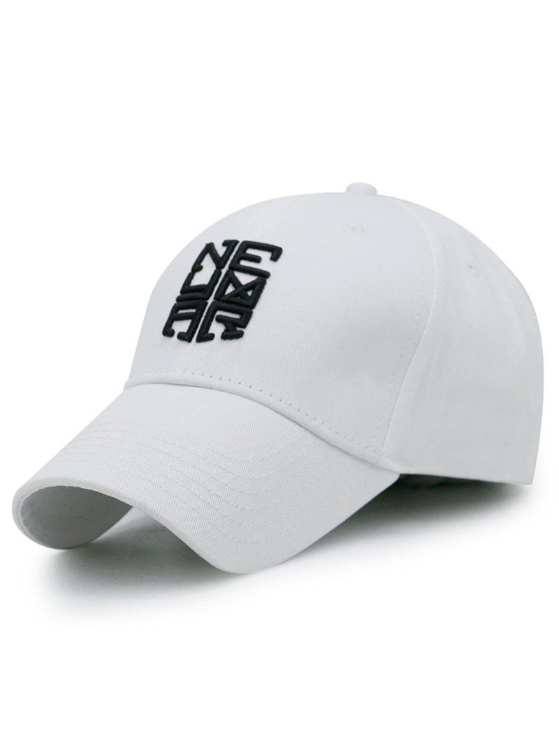 Outdoor Letter Pattern Embellished Baseball Cap - WHITE