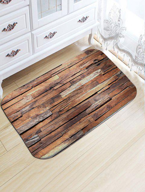 Uneven Wood Pattern Antiskid Flannel Bath Rug - WOOD COLOR W20 INCH * L31.5 INCH