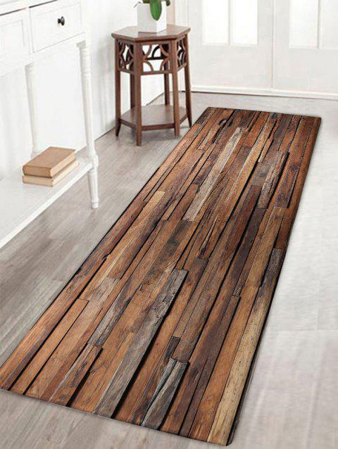 Uneven Wood Pattern Antiskid Flannel Bath Rug - WOOD COLOR W16 INCH * L47 INCH