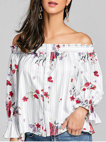 f95537c1d6f4a 2019 Off Shoulder Flare Sleeve Blouse Online Store. Best Off ...