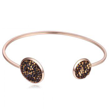 Faux Crystal Embellished Cuff Bracelet - CAPPUCCINO CAPPUCCINO