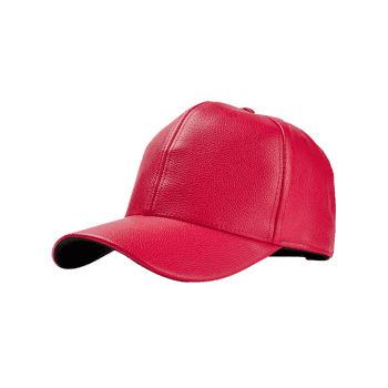 Unique Artificial Leather Adjustable Snapback Hat - RED