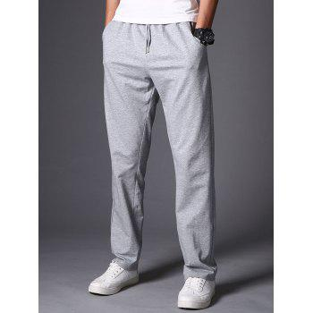 Casual Drawstring Straight Leg Sweatpants - LIGHT GRAY LIGHT GRAY