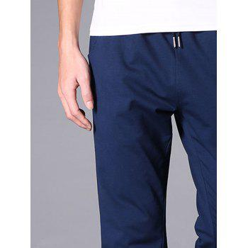 Casual Drawstring Straight Leg Sweatpants - BLUE 3XL