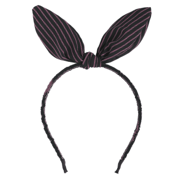 Cute Striped Rabbit Ears Hairband - PURPLE