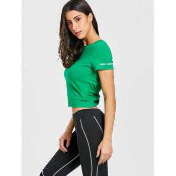 Twist Back Workout T-shirt - GREEN GREEN