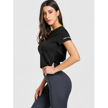 T-shirt Twist Back Workout - Noir S