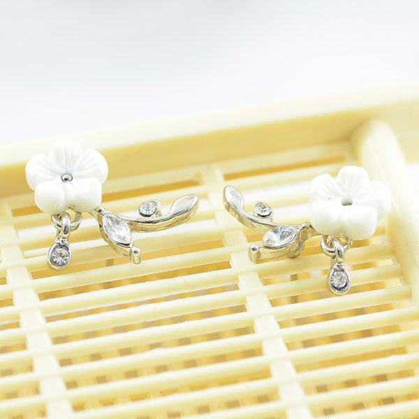 цены Flower Shape Faux Crystal Stud Earrings