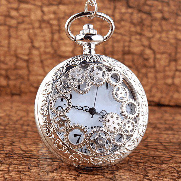 Gear Steampunk Mechanical Pocket Watch steampunk mechanical pocket watch men vintage bronze skeleton dial transparent retro necklace pocket