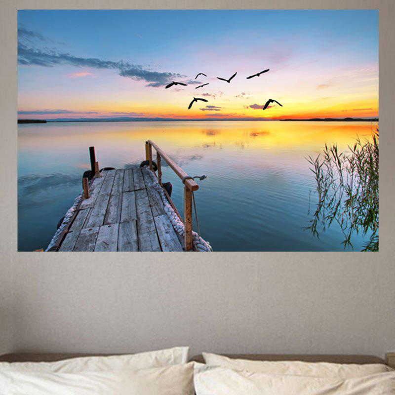 Sunset Lake Pattern Wall Art Sticker платья bonne femme платье