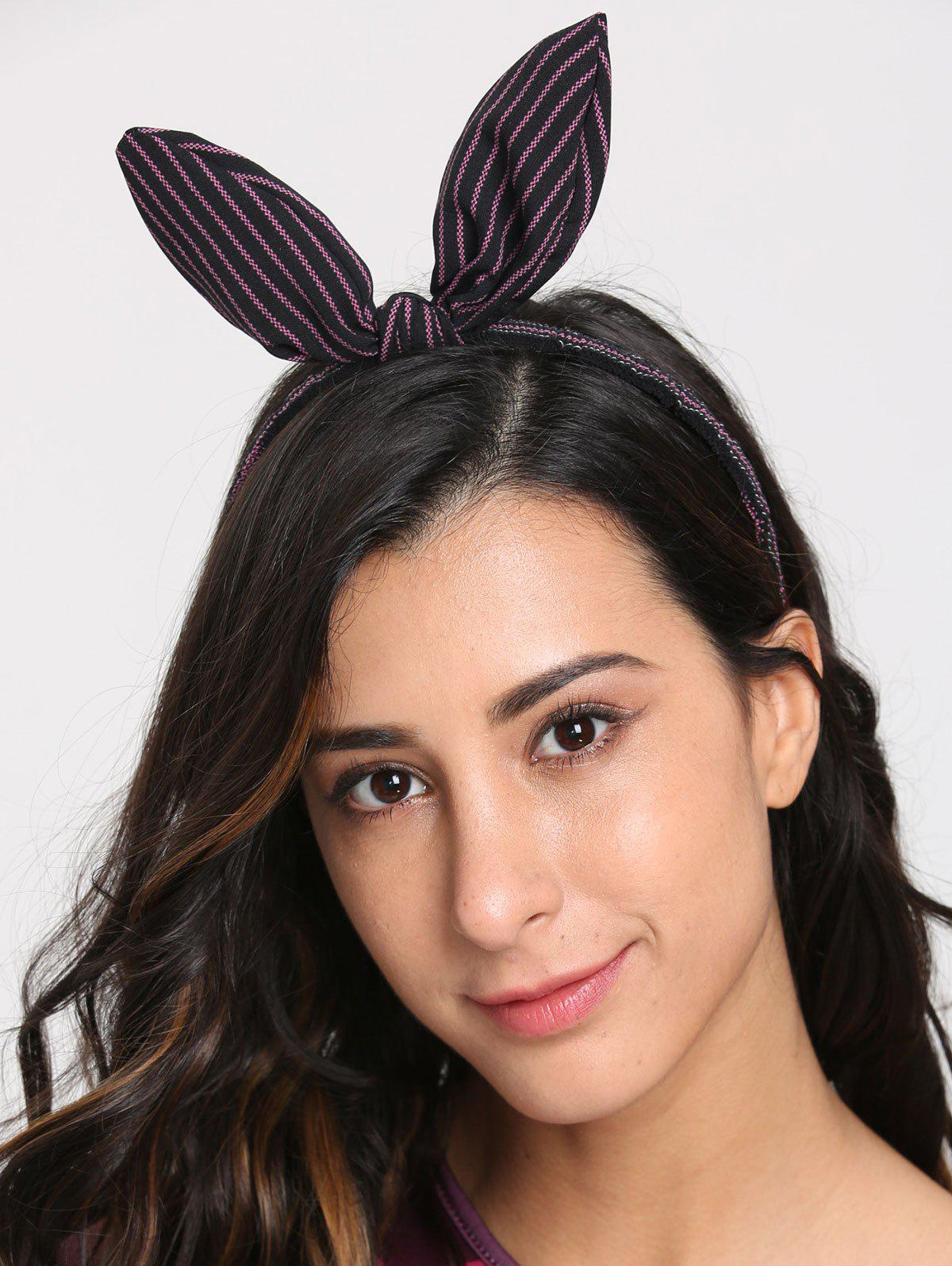Cute Striped Rabbit Ears Hairband