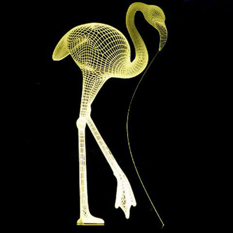 Flamingo USB recharge LED Lumière de nuit tactile 3D - Transparent