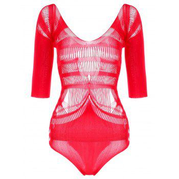 Saint Valentine's Day Hollow Out Teddy - RED RED