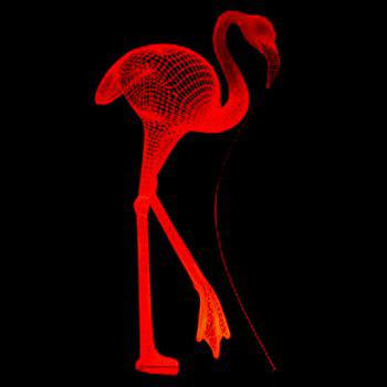 Flamingo USB Charging LED 3D Touch Night Light - TRANSPARENT