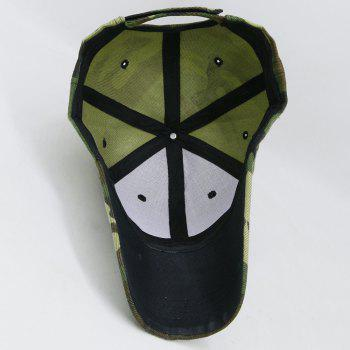 Simple Camo Pattern Embellished Adjustable Sunscreen Hat - ACU CAMOUFLAGE