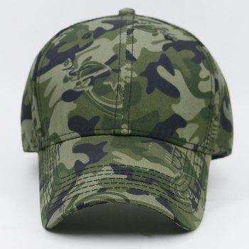 Simple Camo Pattern Embellished Adjustable Sunscreen Hat -  MARINE CAMOUFLAGE