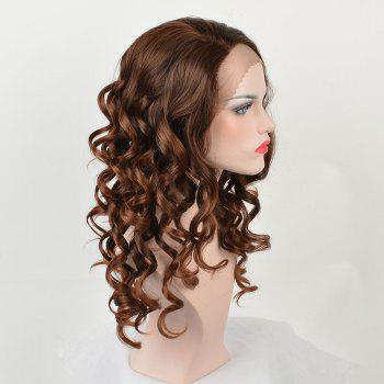 Long Side Parting Body Wave Colormix Synthetic Lace Front Wig - COLORMIX
