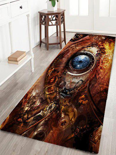 Mechanical Eye Print Skidproof Flannel Bath Rug flannel skidproof bath rug with butterfly print