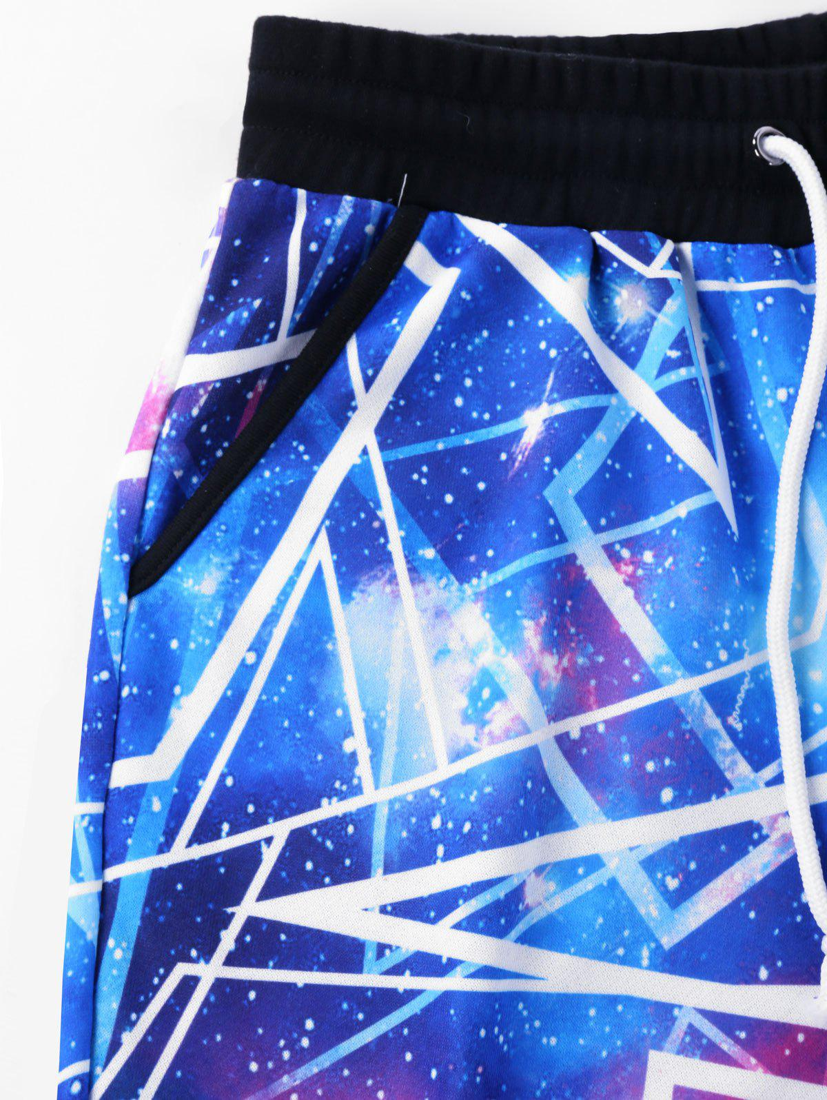 Drawstring Galaxy Pants - BLUE 2XL