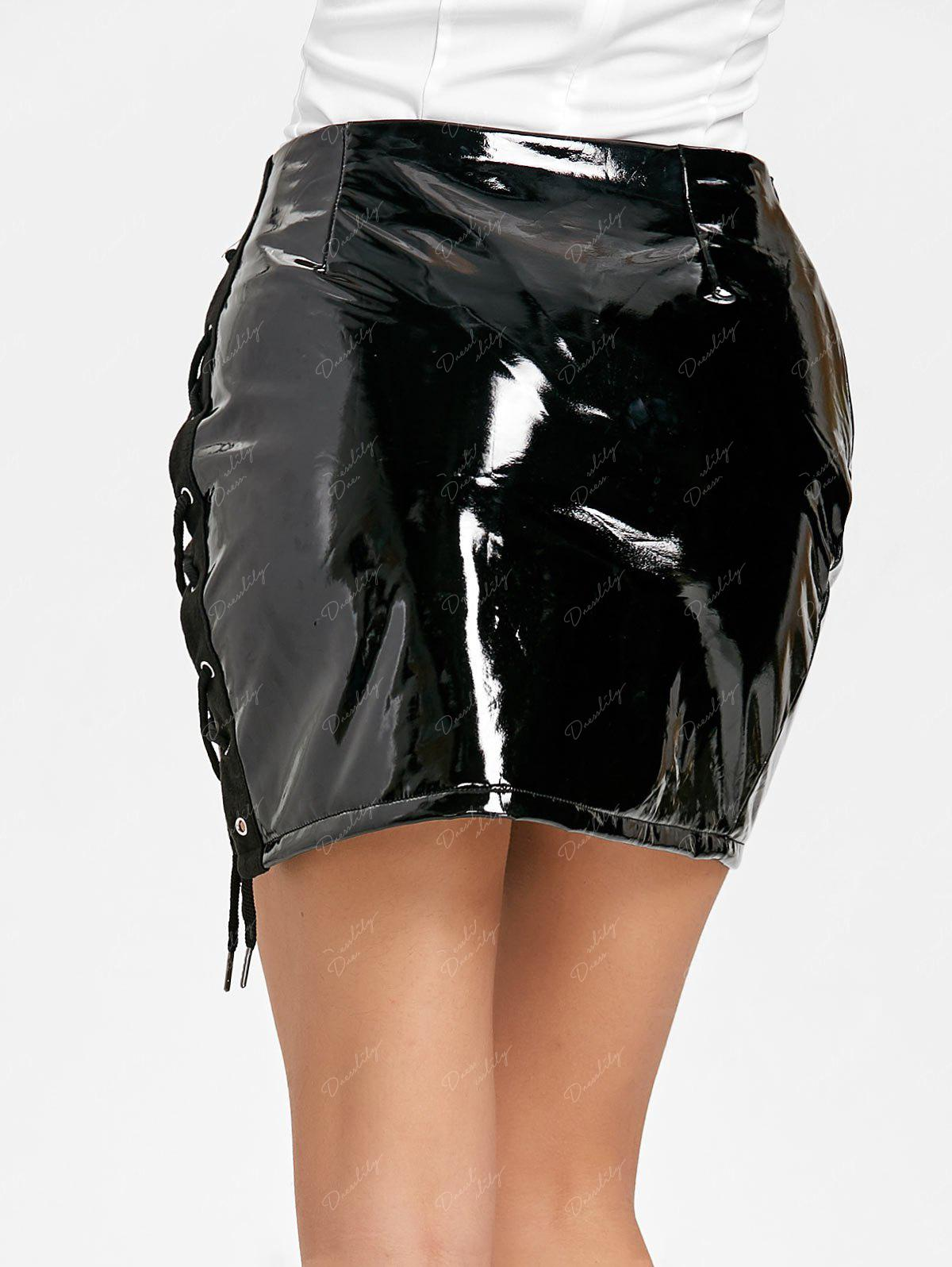 Curious.. latex skirts lace up back agree