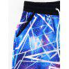 Drawstring Galaxy Pants - BLUE L