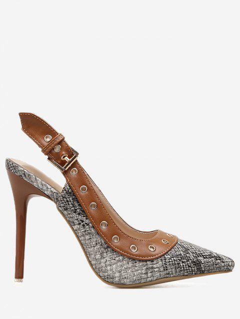15e8ac570 17% OFF] 2019 Pointed Toe Slingback Pumps In LIGHT BROWN | DressLily