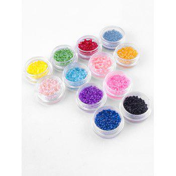 Professional 12 Colors Nail Art Decoration Pearl - multicolor